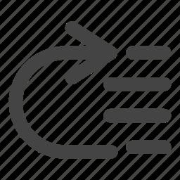 arrow, arrows, paragraph, spacing, text icon