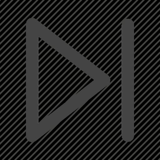 arrow, arrows, forward, music player, next, player icon