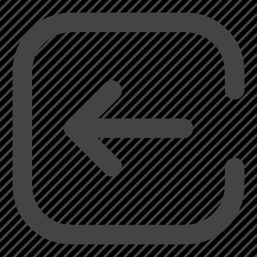 arrow, arrows, exit, left icon