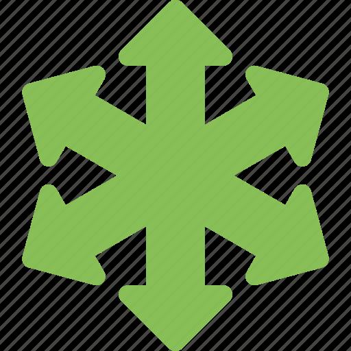 arrowheads, arrows, directional, indicator, orientation icon