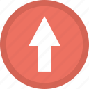 pointer, road sign, traffic arrow, up, upward arrow icon