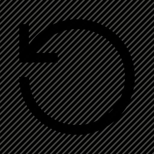 arrow, refresh, reload, rotate, undo icon