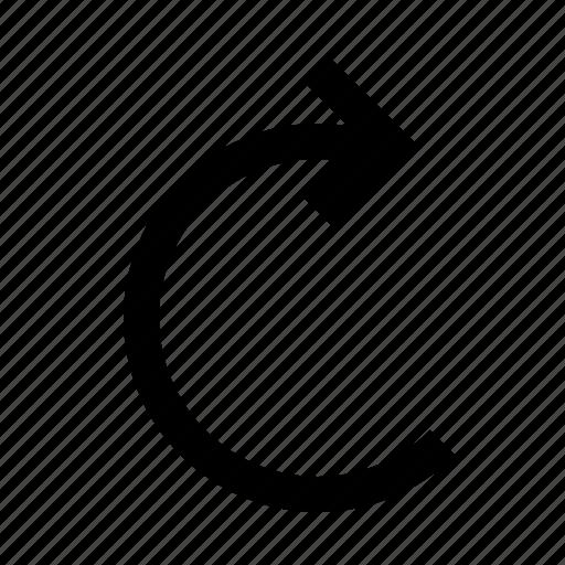 arrow, redo, reload, rotate icon