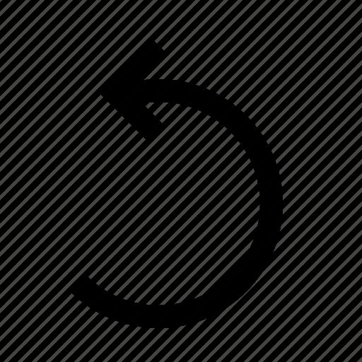 arrow, reload, rotate, undo icon