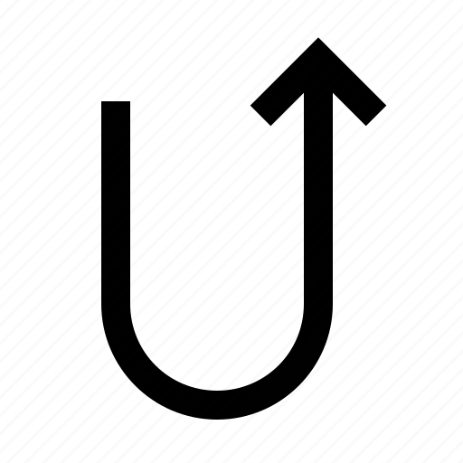 arrow, back, retun, turn, up icon
