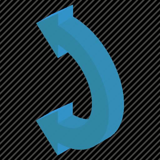 Arc arrow, circular arrows, flexible arc, redo sign, refresh, reload icon - Download on Iconfinder