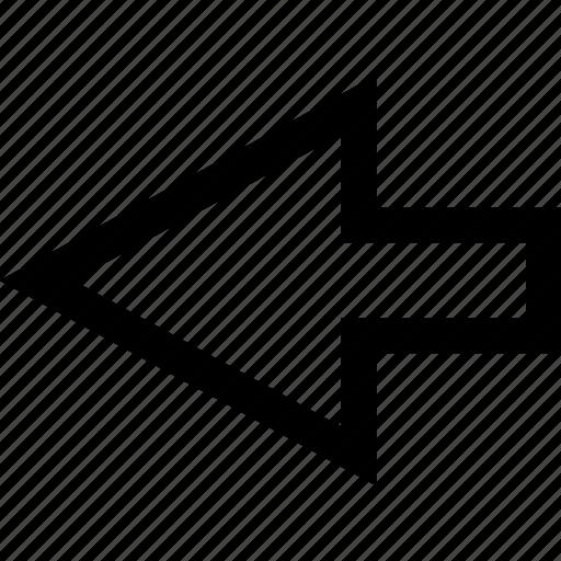 arrow, backwards, exit icon