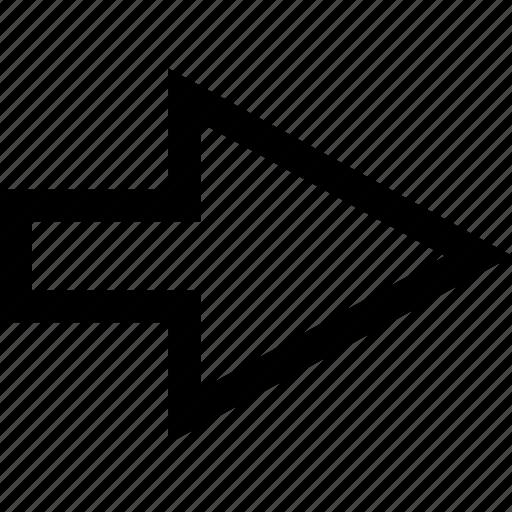 arrow, forward, go icon