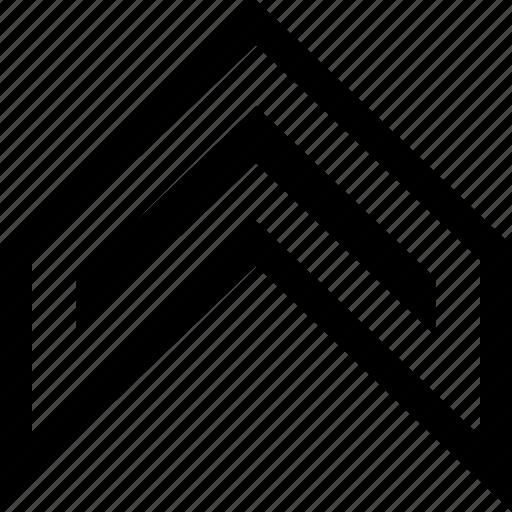 arrow, highend, sleek, up icon