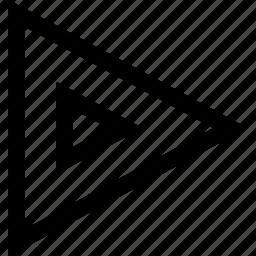 arrow, go, right, triangle icon