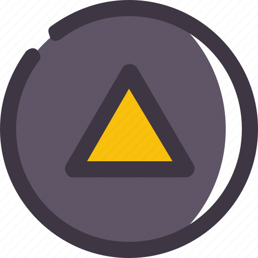 caret, circle, up icon