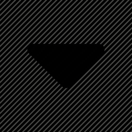 arrow, down, drop, sort, triangle icon