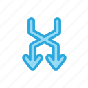 arrow, download, path
