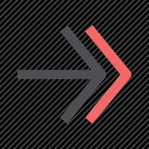 arrow, chevron, direction, right icon