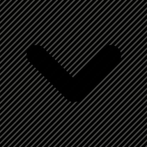 arrow, direction, down, hide, movement icon