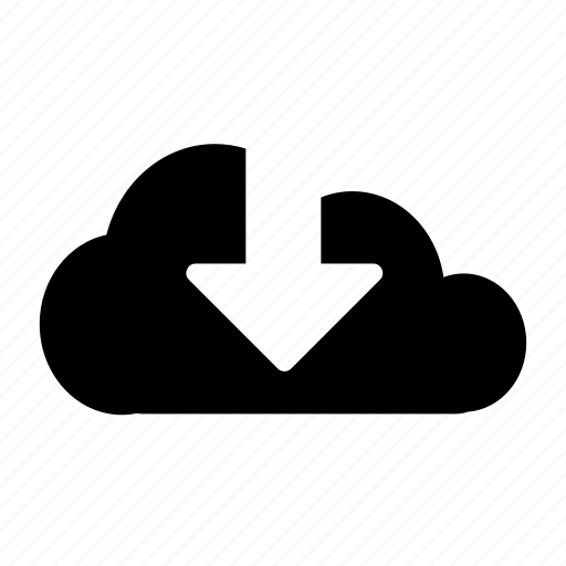 arrow, cloud, download, technology icon