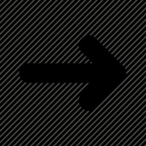 arrow, direction, movement, right icon