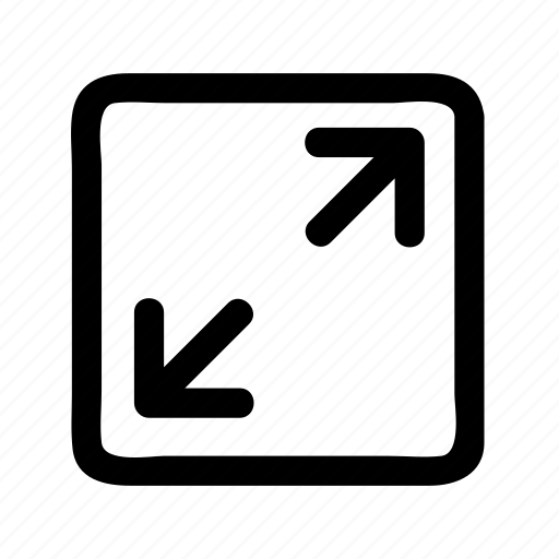 arrow, down, left, right, square, up icon