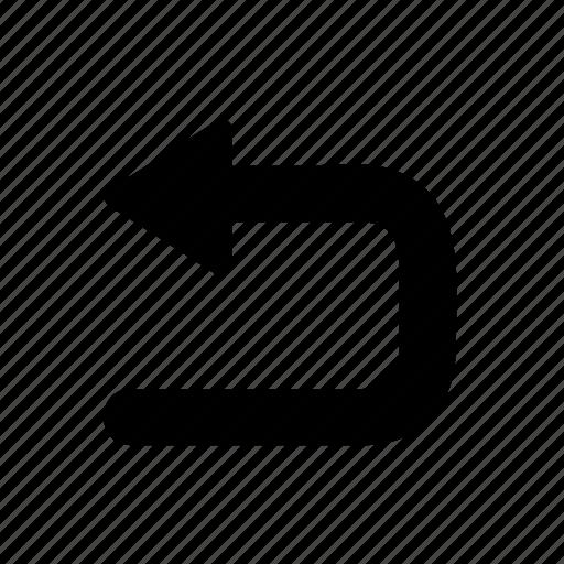 arrow, left, replay, return, road, street, uturn icon