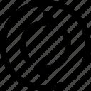 arrow, circle, direction, navigation icon