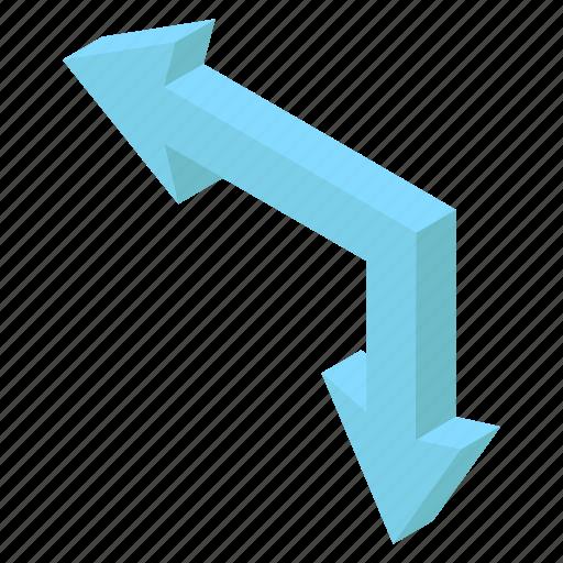 Arrow symbol, directional arrows, left downward, move upward, navigation icon - Download on Iconfinder
