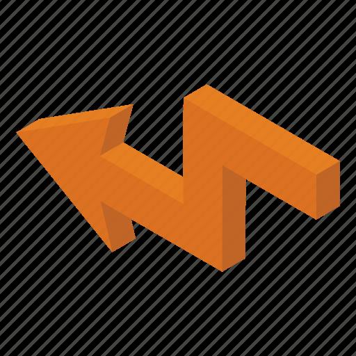 Arrow sign, arrow symbol, bend arrow, left arrow, pointing arrow icon - Download on Iconfinder