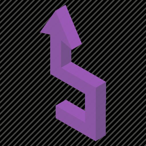 Arrow sign, arrow symbol, bend arrow, pointing arrow, upward arrow icon - Download on Iconfinder