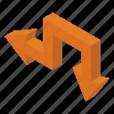 arrow symbol, directional arrows, left down, move down, navigation icon