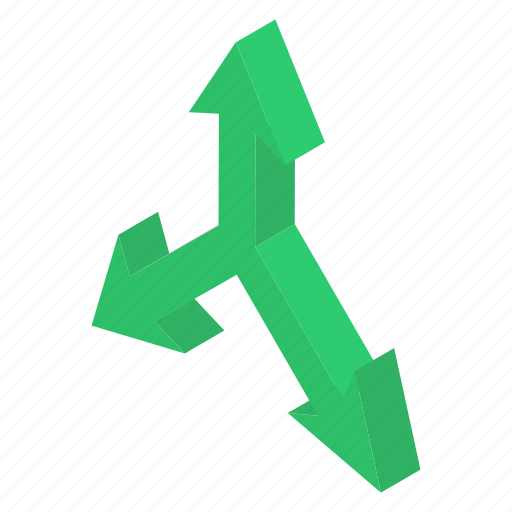 Decision arrow, direction arrow, direction sign, indicating arrow, road direction icon - Download on Iconfinder