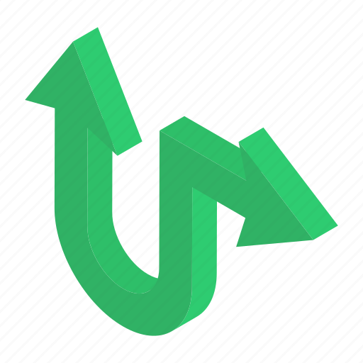 Directional arrows, indicator arrow, move up, navigation, right bend icon - Download on Iconfinder