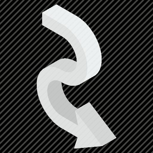 Arrow direction, arrowhead, down arrow, download symbol, downward arrow icon - Download on Iconfinder