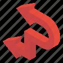 arrowhead, direction symbol, directional arrows, left bend, navigation, road arrow