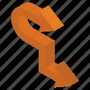 arrow symbol, direction symbol, directional arrows, navigation, road arrow, two way arrow icon