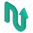 road arrow, upload, upload arrow, upload sign, upward arrow, web arrow icon