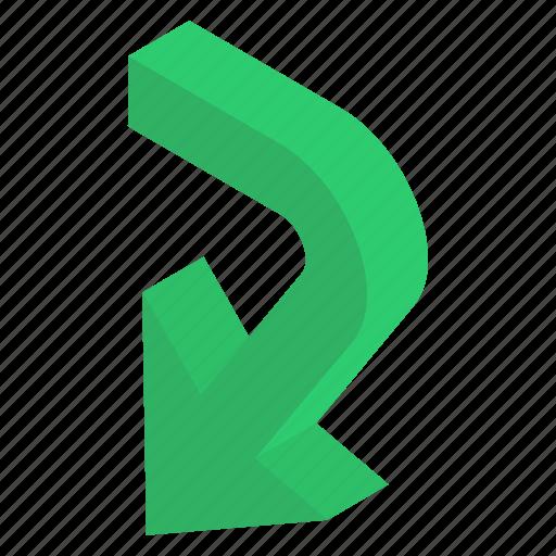 Arrow, direction symbol, directional arrows, navigation, road arrow icon - Download on Iconfinder