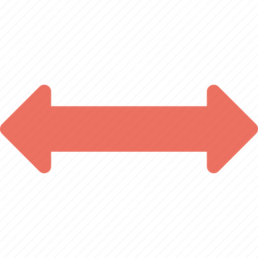 arrows, directions, indicator, left right arrow, pointing arrow icon