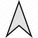 arrow, gps, point, pointer, up icon