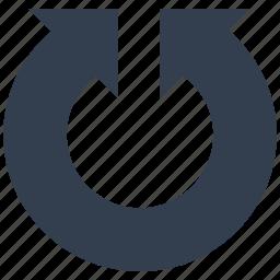 arrows, circle, dirrection, double icon