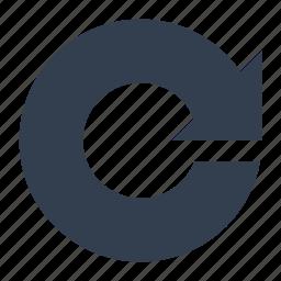 arrows, circle, refresh icon