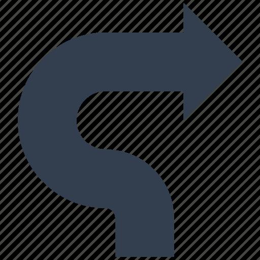 arrows, dirrection, turn, write icon