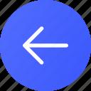arrow, circle, left, navigation