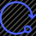 arrow, circle, retry