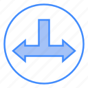 junction, left, and, direction, right, arrows, t