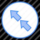 arrows, top, left, path, direction