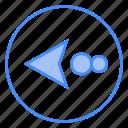 arrow, left, direction, move