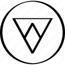 arrow, down, point, pointer, triangle icon