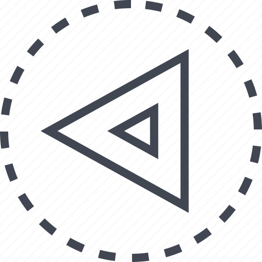 arrow, back, direction, triangle icon