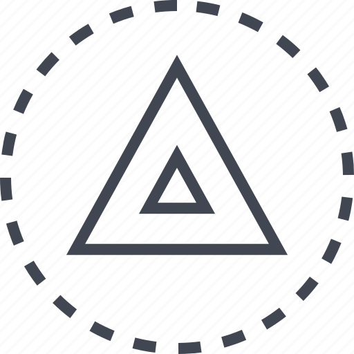 arrow, direction, triangle, up icon