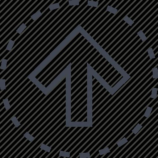 arrow, go, pointer, up icon