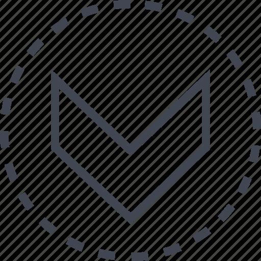 arrow, down, download, pointer icon